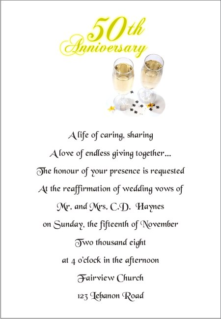 50th wedding anniversary wording for invitation the wedding we stopboris Images