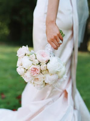 Garden Rose And Peony Bouquet peony and ranunculus wedding bouquets chicago - the wedding
