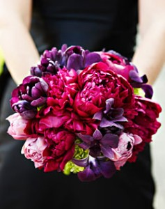 wedding bouquet purple Purple peony wedding bouquets