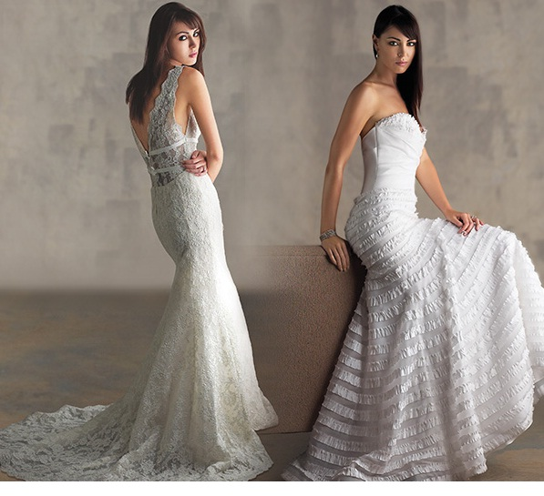 Low V-back wedding dresses Los Angeles - The Wedding ...