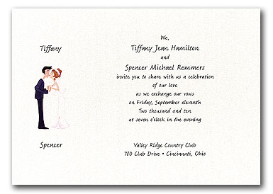 Bride and groom wedding invitations The Wedding SpecialistsThe