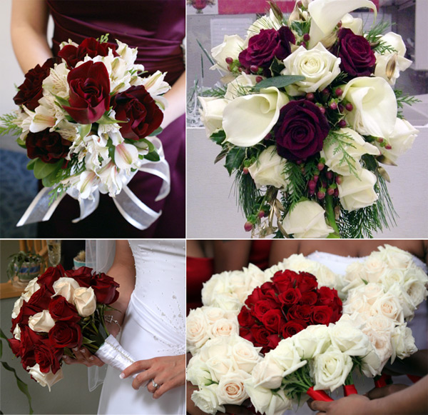 Red And White Wedding Flowers Red And White Rose Winter Wedding Flowers The Wedding SpecialistsThe