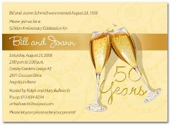 Wording For 50th Wedding Anniversary Invitations