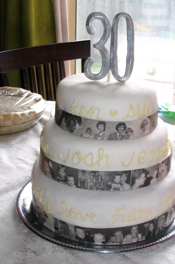 30th Wedding Anniversary Cake Toppers - The Wedding ...