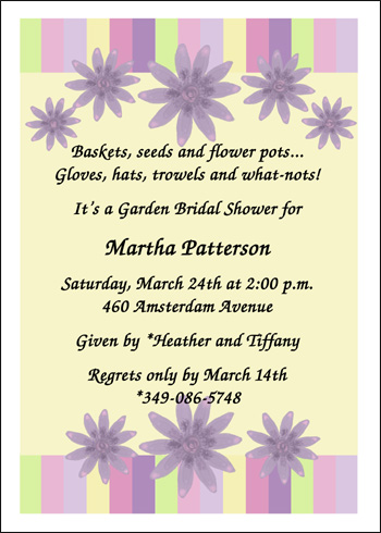Wording For Invitations For Wedding Shower And Group Gift The