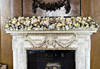 Wedding Flowers For Fireplace Mantel The Wedding
