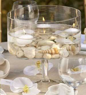 Candles wedding centerpiece
