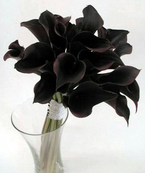 Black Flowers for a Halloween Wedding