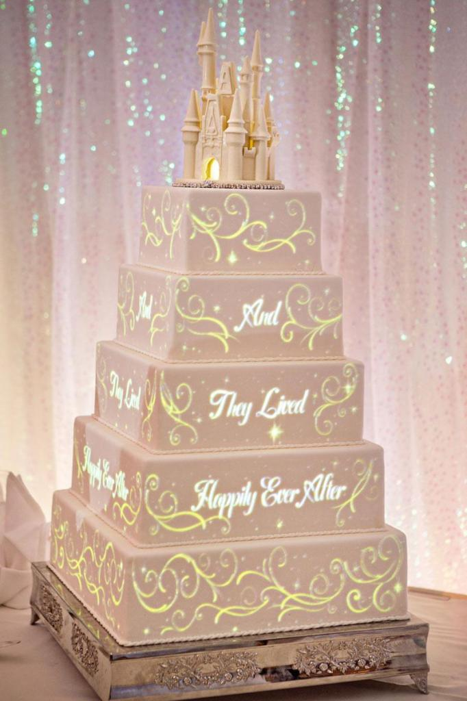 Wedding cake video projection by Disney 2