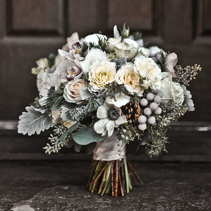 Winter wedding bouquet 2