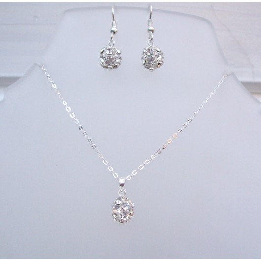 Sparkly Moon Necklace & Earrings Set by Nancy Laverge