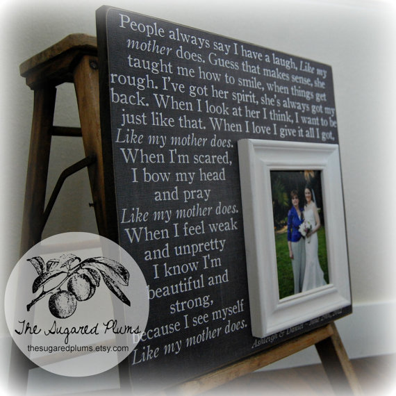Mother Of The Bride Gift Personalized Picture Frame