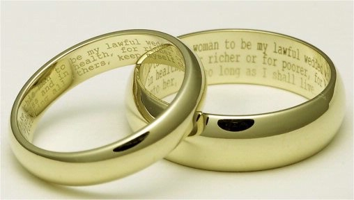 ideas for engraved wedding ring