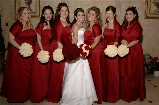Red Bridesmaid Dresses First