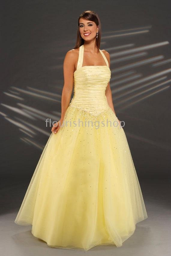 For Instance Yellow Wedding Gowns How