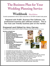 Business plan wedding