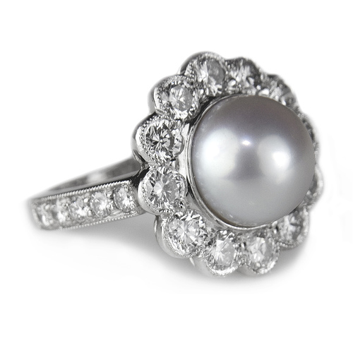 if you are looking for a cheaper or a more affordable type of pearl wedding ring set - Pearl Wedding Ring Sets