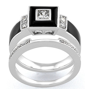 there - Onyx Wedding Ring