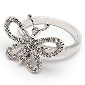 butterfly diamond wedding rings - Butterfly Wedding Rings